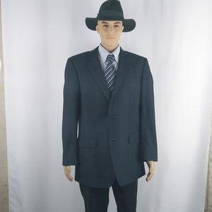 Jos. A. Bank navy blue blazer jacket men size 42L